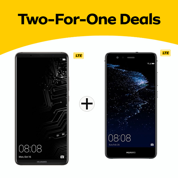 2 for 1 Deal Huawei Mate 10 Pro & P10 lite